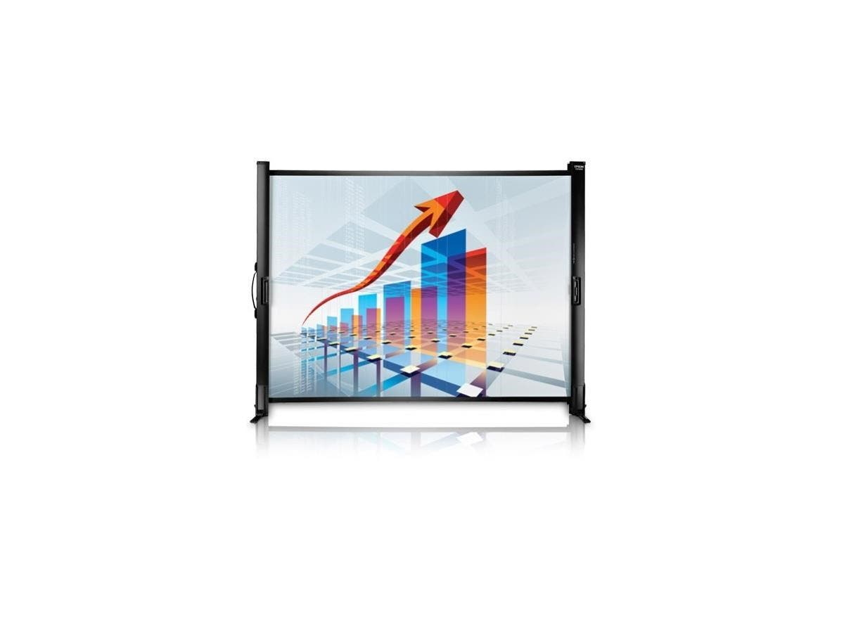 "Epson ES1000 Manual Projection Screen - 50"" - 4:3, 16:9 - 34.5"" x 45.4"" - Matte White"