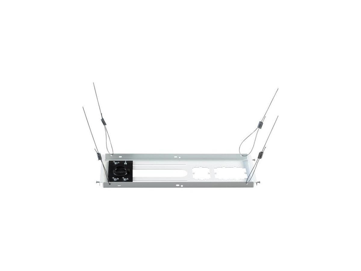 Epson SpeedConnect ELPMBP04 Ceiling Mount for Projector - 50 lb Load Capacity - White-Large-Image-1