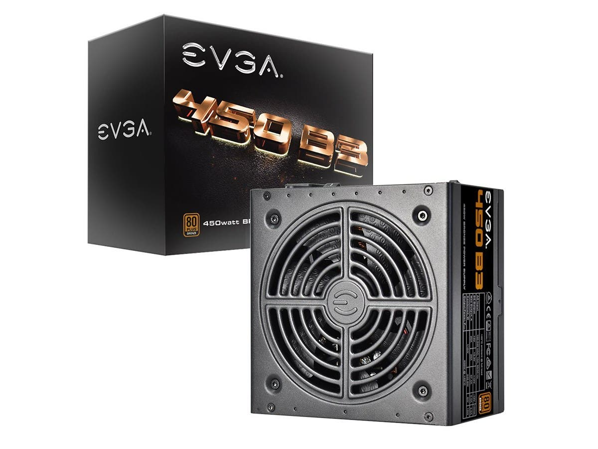EVGA 450 B3, 80+ BRONZE 450W, Fully Modular, EVGA ECO Mode, Compact 150mm Size, Power Supply 220-B3-0450-V1 -Large-Image-1