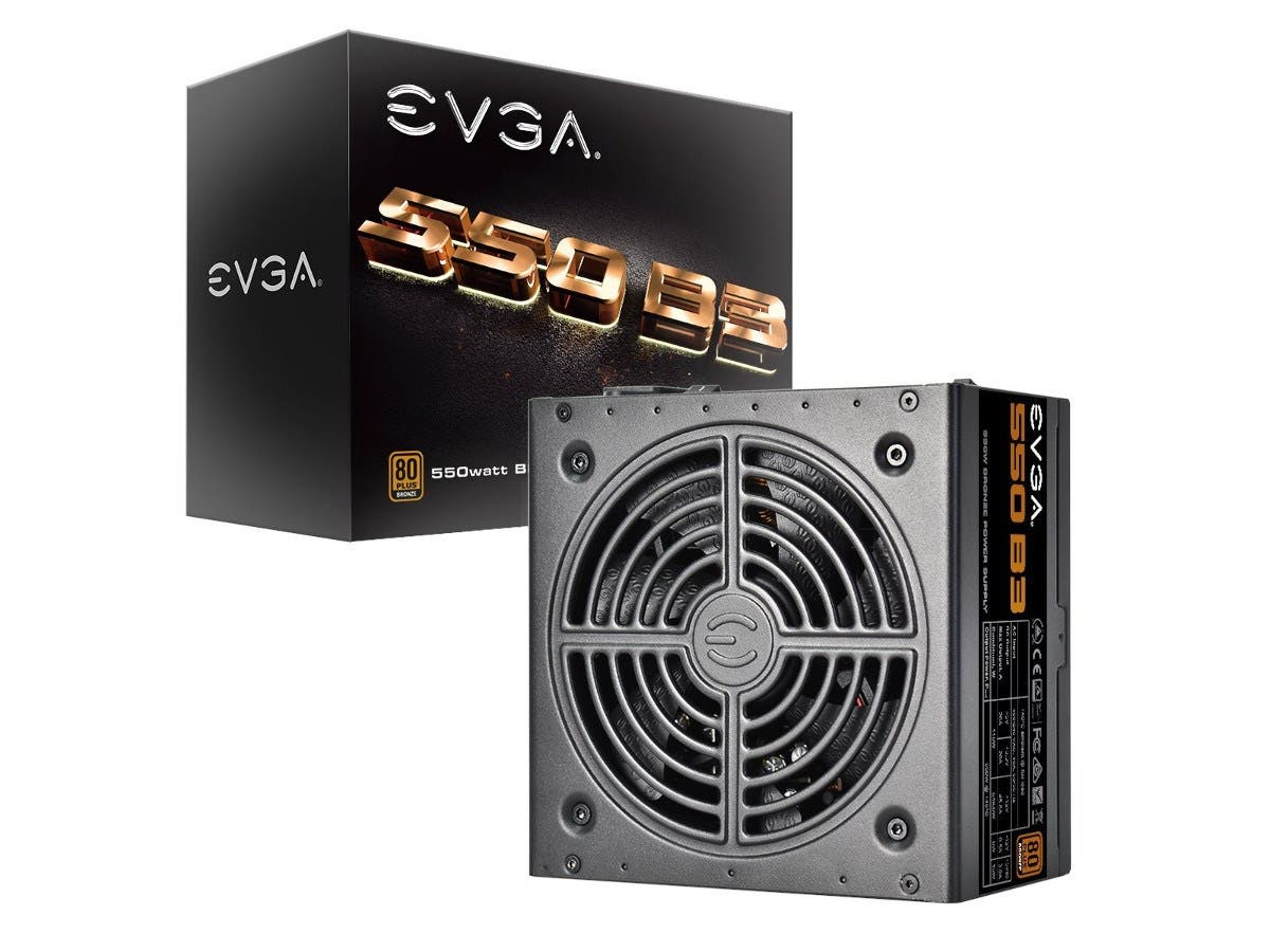 EVGA 550 B3, 80+ BRONZE 550W, Fully Modular, EVGA ECO Mode, 5 Year Warranty, Compact 150mm Size, Power Supply 220-B3-0550-V1 -Large-Image-1