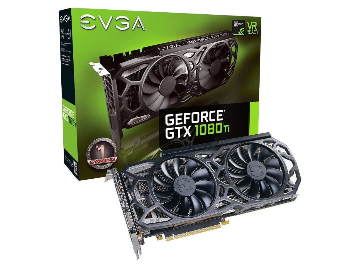 EVGA GeForce GTX 1080 Ti SC Black Edition GAMING, 11GB GDDR5X, iCX Cooler & LED, Optimized Airflow Design, Interlaced Pin Fin Graphics Card 11G-P4-6393-KR -Large-Image-1