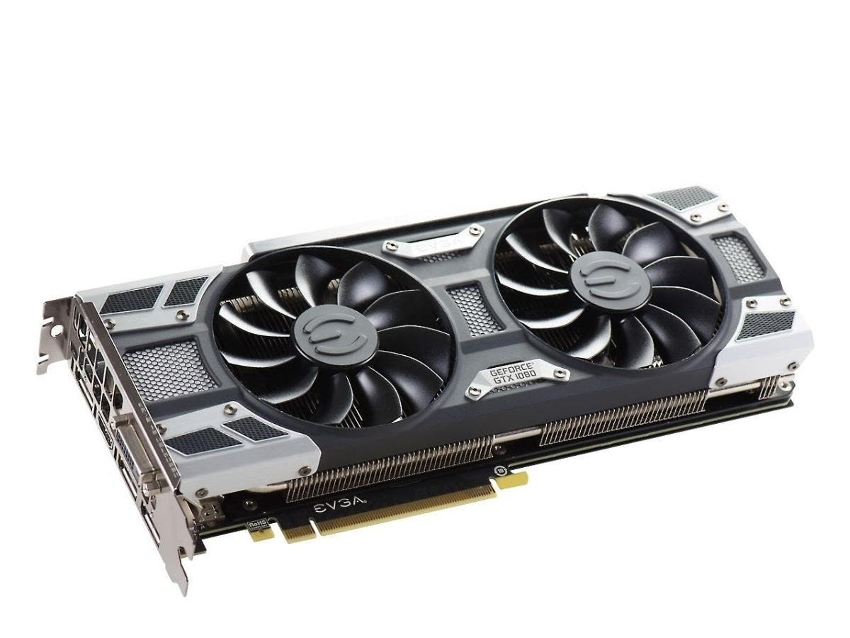 EVGA GeForce GTX 1080 Graphic Card - 1.61 GHz Core - 1.73 GHz Boost Clock - 8 GB GDDR5X - PCI Express 3.0 x16 - Dual Slot Space Required - 256 bit Bus Width - SLI - Fan Cooler - OpenGL 4.5, DirectX 12-Large-Image-1