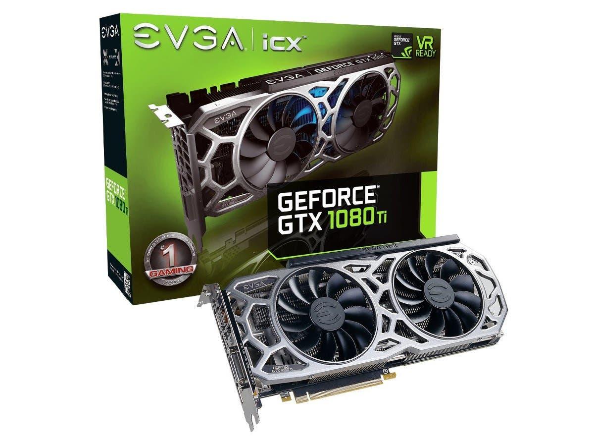 EVGA GeForce GTX 1080 Ti SC2 GAMING, 11GB GDDR5X, iCX Technology - 9 Thermal Sensors & RGB LED G/P/M 11G-P4-6593-KR
