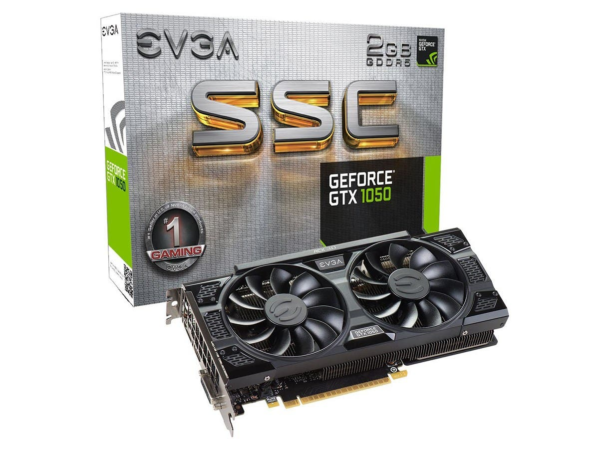 EVGA GeForce GTX 1050 SSC GAMING, 02G-P4-6154-KR, 2GB GDDR5, ACX 3.0