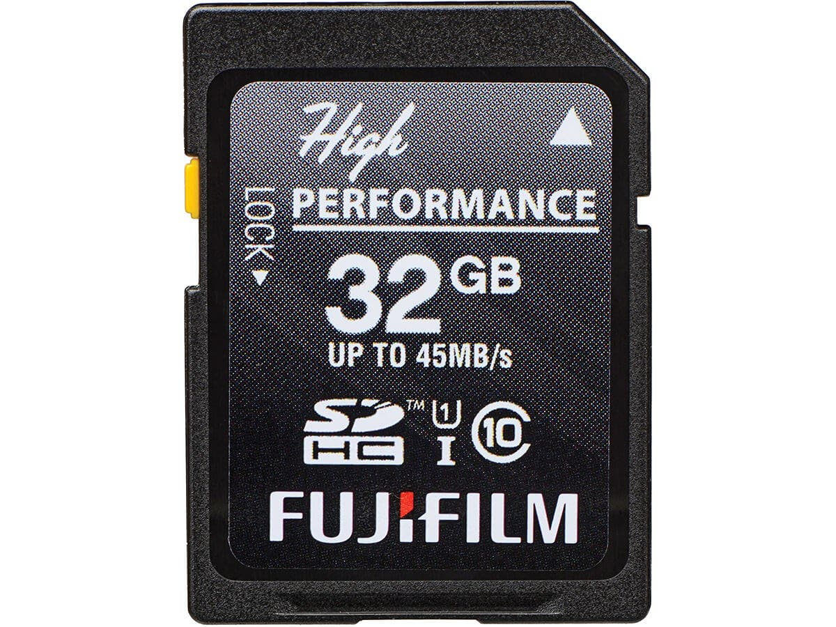Fujifilm High Performance 32 GB SDHC - Class 10/UHS-I - 45 MB/s Read - 300x Memory Speed