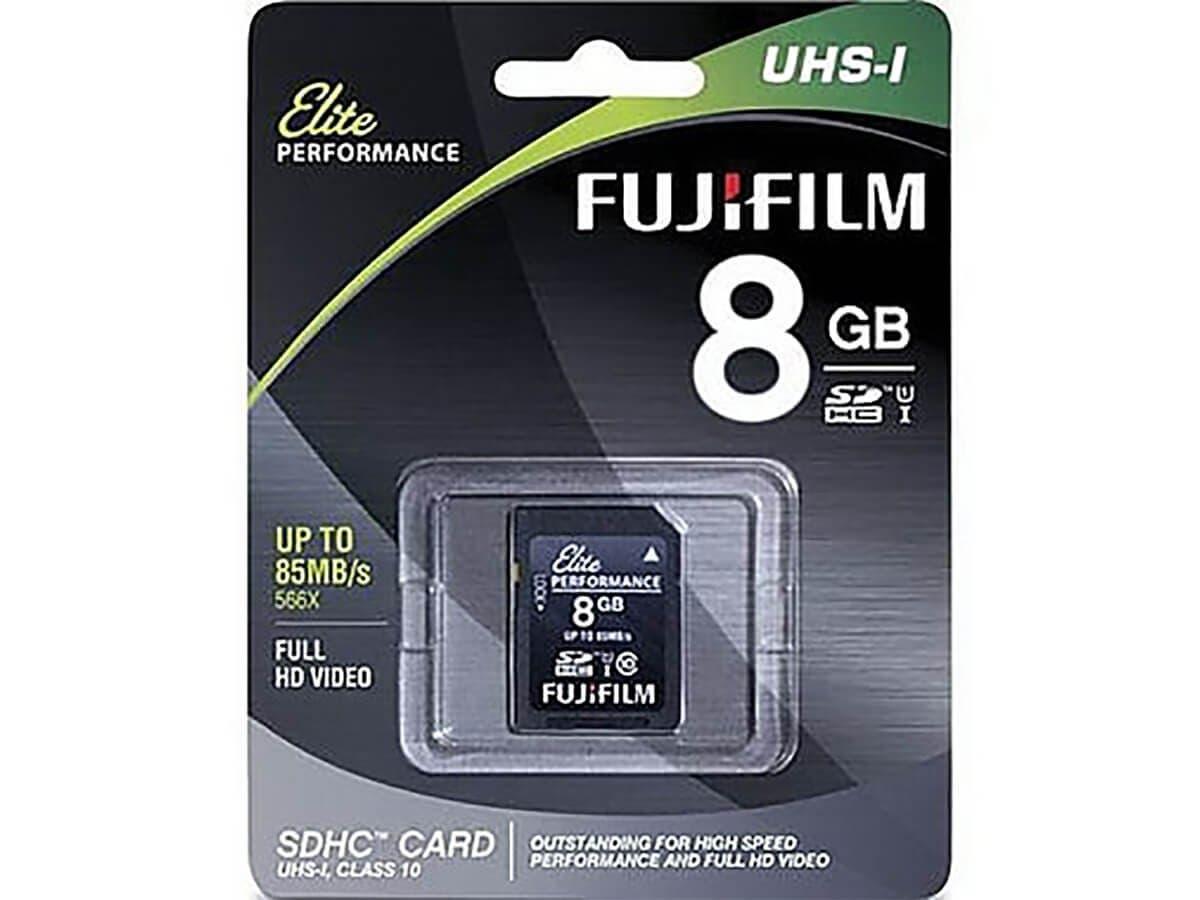 Fujifilm Elite 8 GB SDHC - Class 10/UHS-I (U1) - 10 MB/s Write