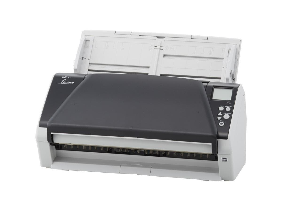 Fujitsu fi-7460 Sheetfed Scanner - 600 dpi Optical - 24-bit Color - 10-bit Grayscale - 60 - 60 - Duplex Scanning - USB