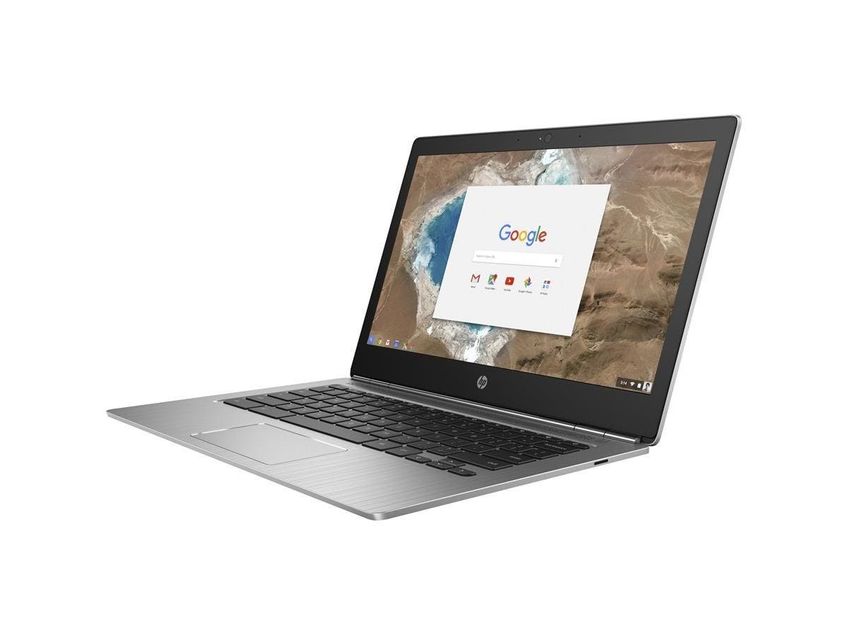 "HP Chromebook 13 G1 13.3"" (BrightView, In-plane Switching (IPS) Technology) Chromebook - Intel Core M (6th Gen) m7-6Y75 Dual-core (2 Core) 1.20 GHz - 16 GB LPDDR3 RAM-Large-Image-1"