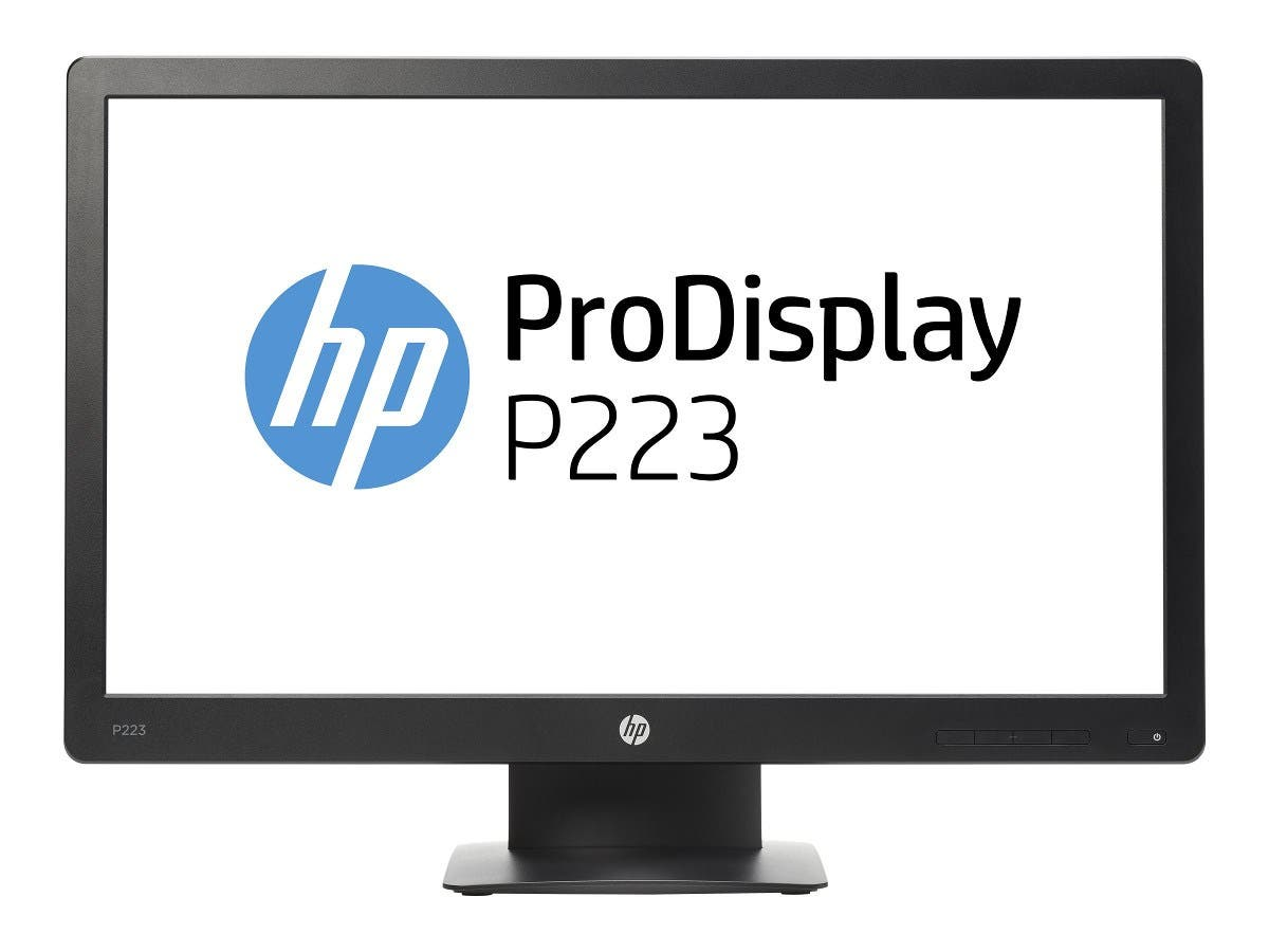"HP 21.5"" ProDisplay P223 Full HD LED-LCD Monitor, Black-Large-Image-1"