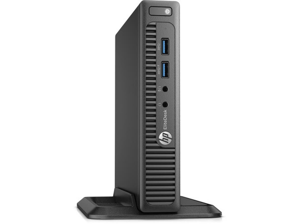 HP EliteDesk 705 G3 Mini Desktop, 16 GB RAM, 512 GB SSD, AMD Radeon R7, Black (Y4E55UT#ABA) -Large-Image-1