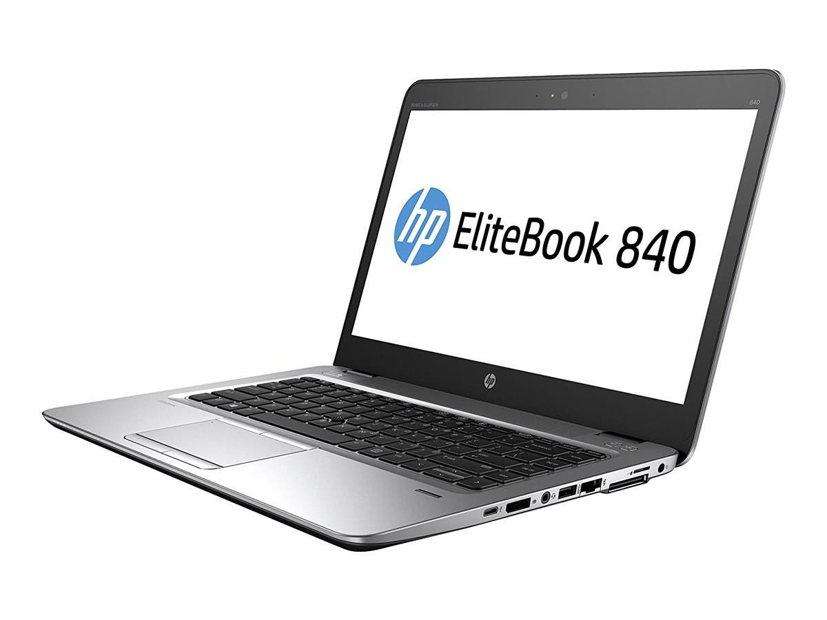 "HP Elitebook 840 G4 14"" Notebook, Windows, Intel Core i5 2.5 GHz, 8 GB RAM, 256 GB SSD, Silver (1GE41UT#ABA) -Large-Image-1"