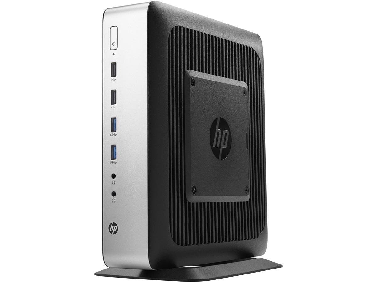 HP Thin Client - AMD R-Series RX-427BB Quad-core (4 Core) 2.70 GHz - 8 GB RAM DDR3L SDRAM - 16 GB Flash - AMD FirePro W2100 (2 GB - Gigabit Ethernet - HP ThinPro - DisplayPort - Network (RJ-45) - 9 To-Large-Image-1