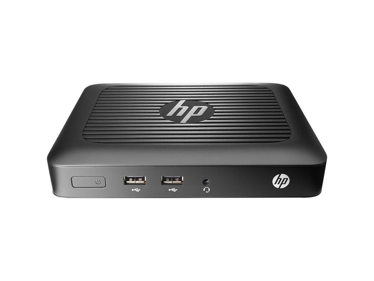 HP Thin Client - AMD G-Series Dual-core (2 Core) 1 GHz - 2 GB RAM DDR3L SDRAM - 8 GB Flash - AMD - Gigabit Ethernet - HP ThinPro - DVI - VGA - Network (RJ-45) - 4 Total USB Port(s) - 4 USB 2.0 Port(s)-Large-Image-1