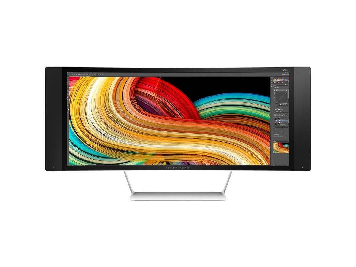 "HP Business Z34c 34"" LED LCD Monitor - 21:9 - 8 ms - Adjustable Display Angle - 3440 x 1440 - 350 Nit - 10,000,000:1 - UW-QHD - Speakers - HDMI - DisplayPort - 150 W - Black"