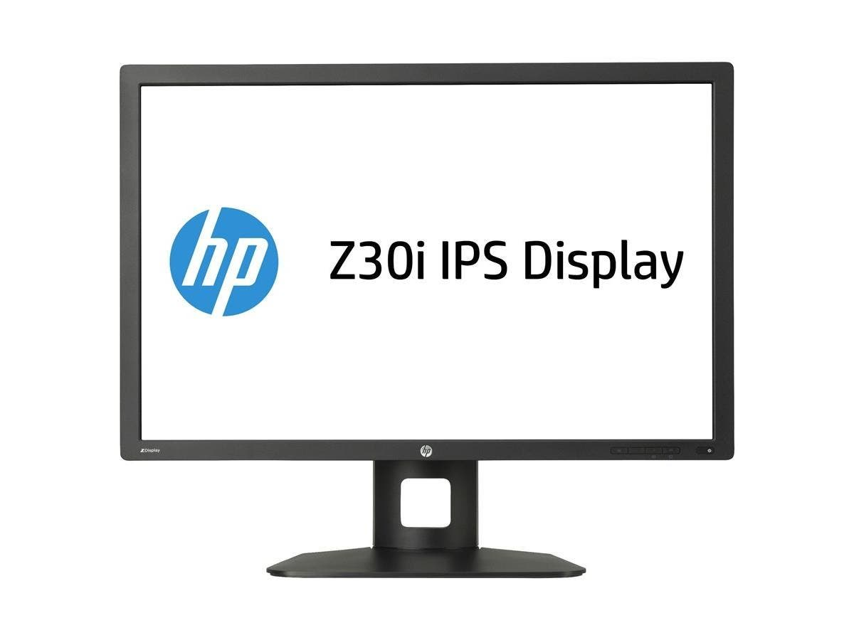 "HP Business Z30i 30"" LED LCD Monitor - 16:10 - 8 ms - Adjustable Display Angle - 2560 x 1600 - 350 Nit - 1,000:1 - WQXGA - DVI - HDMI - VGA - DisplayPort - USB - 125 W - Black-Large-Image-1"