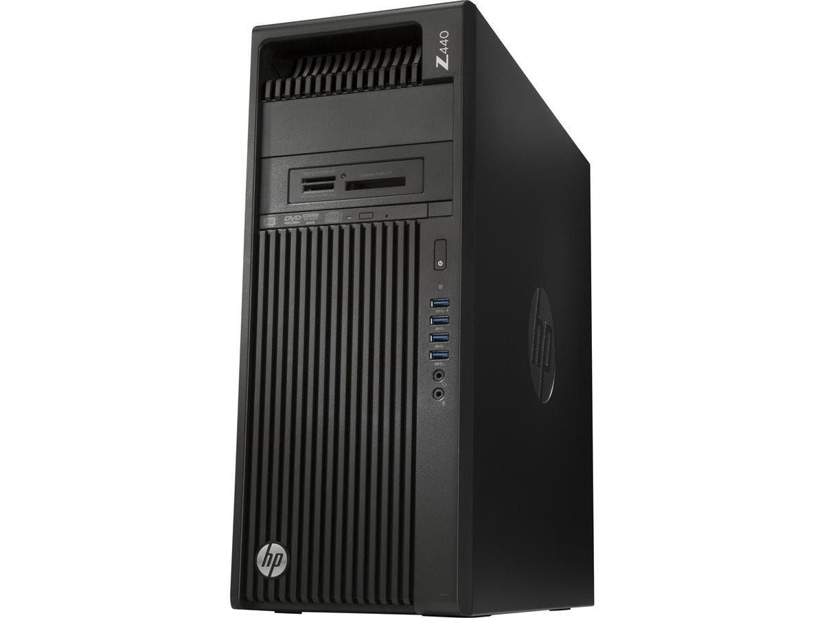 HP Z440 Mini-tower Workstation - 1 x Processors Supported - 1 x Intel Xeon E5-1620 v4 Quad-core (4 Core) 3.50 GHz - Jack Black - 8 GB RAM - 128 GB Maximum RAM - DDR4 SDRAM - 8 x Memory Slots - 1 TB Se