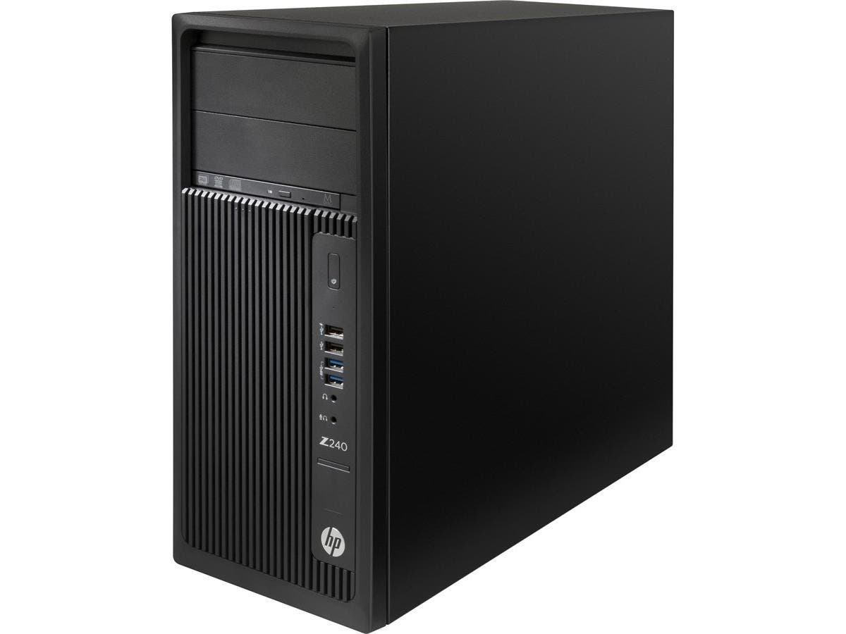 HP Z240 Mini-tower Workstation - 1 x Processors Supported - 1 x Intel Xeon E3-1245 v5 Quad-core (4 Core) 3.50 GHz - Black - 8 GB RAM - 64 GB Maximum RAM - DDR4 SDRAM - 4 x Memory Slots - 256 GB PCI Ex