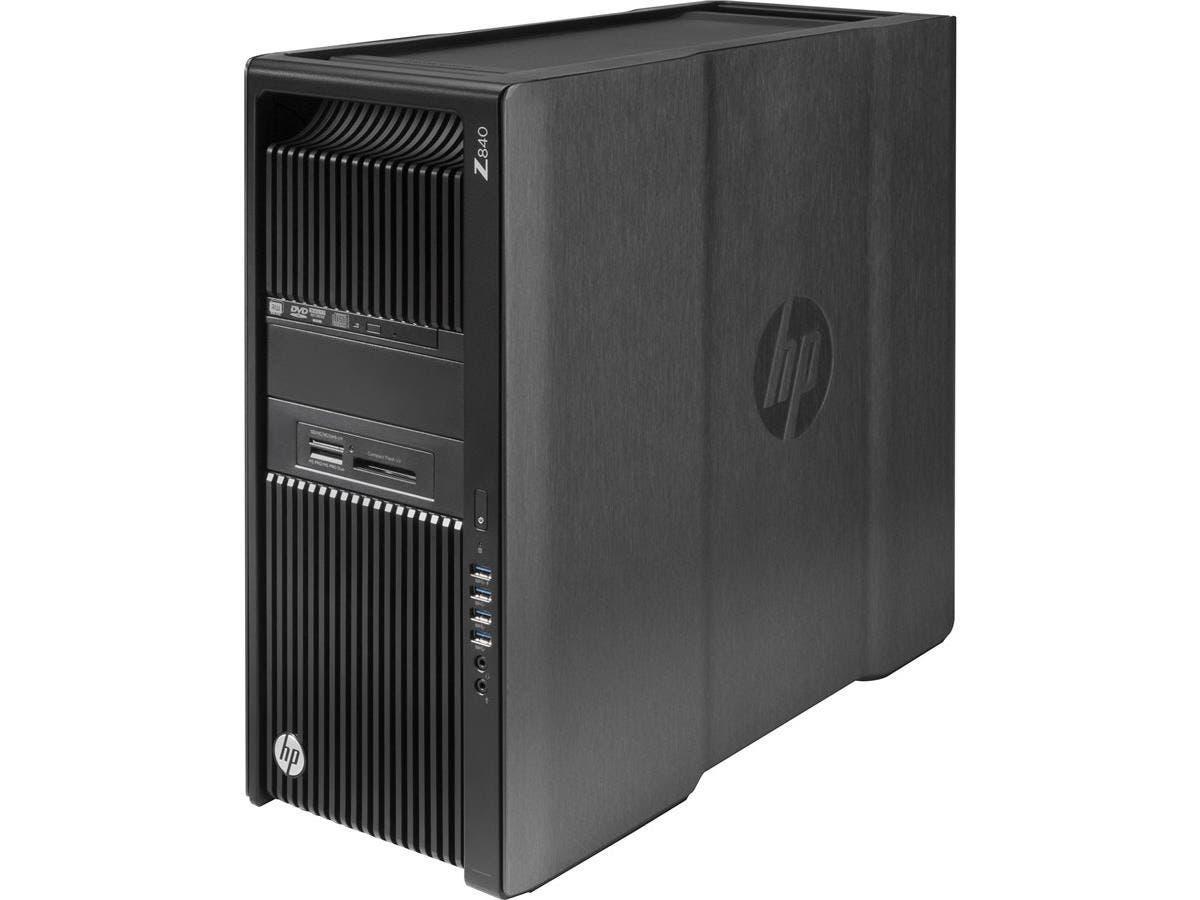 HP Z840 Convertible Mini-tower Workstation - 2 x Processors Supported - 1 x Intel Xeon E5-2620 v4 Octa-core (8 Core) 2.10 GHz - Black - 8 GB RAM - 1 TB Maximum RAM - DDR4 SDRAM - 8 x Memory Slots - 1