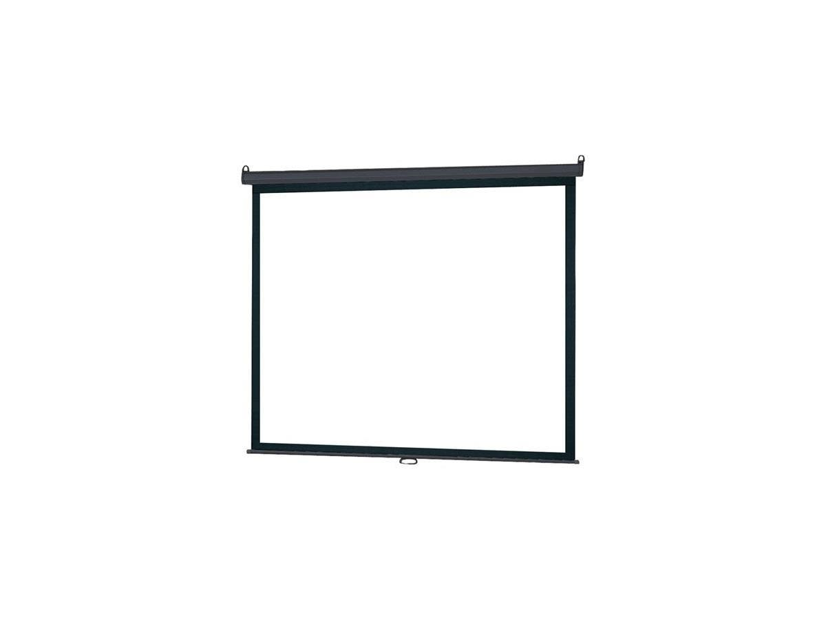 "InFocus SC-MAN-100 Manual Projection Screen - 100"" - 4:3 - Ceiling Mount, Wall Mount - Matte White"