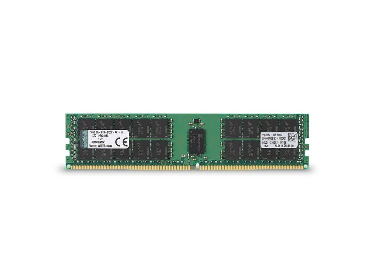 Kingston 16GB Module - DDR4 2133MHz - 16 GB - DDR4 SDRAM - 2133 MHz - ECC - Unbuffered - 288-pin - DIMM