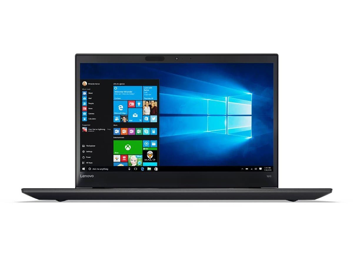 "Lenovo Laptop ThinkPad T570 (20H9000UUS) Intel Core i5 7th Gen 7300U (2.60 GHz) 8 GB Memory 256 GB SSD Intel HD Graphics 620 15.6"" Touchscreen Windows 10 Pro 64-Bit"