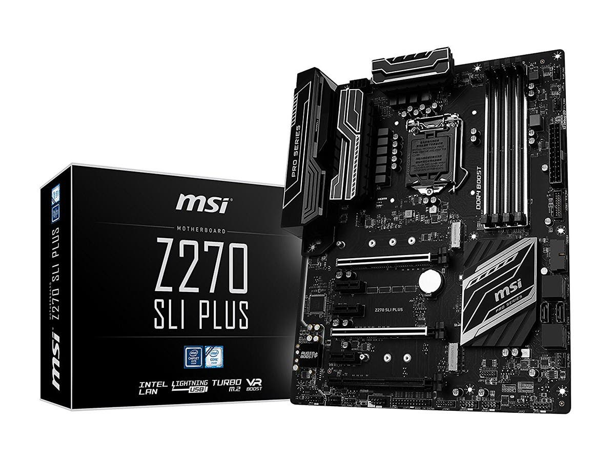 MSI Pro Series Intel Z270 DDR4 HDMI USB 3 SLI ATX Motherboard (Z270 SLI PLUS)