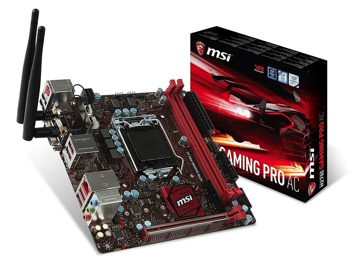 MSI H270I GAMING PRO AC LGA 1151 Intel H270 HDMI SATA 6Gb/s USB 3.1 Mini ITX Motherboards - Intel
