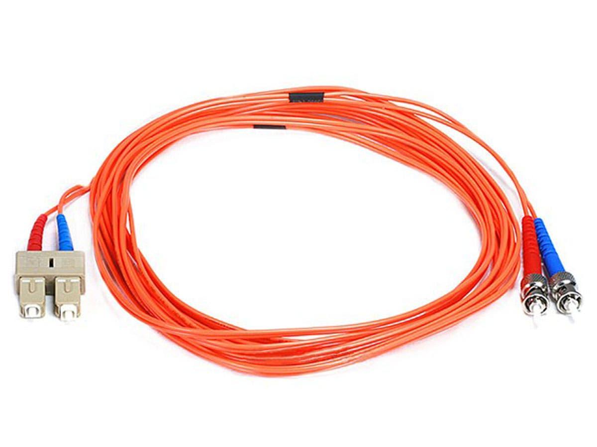 Fiber Optic Cable, ST/SC, OM1, Multi Mode, Duplex - 5 meter (62.5/125 Type) - Orange