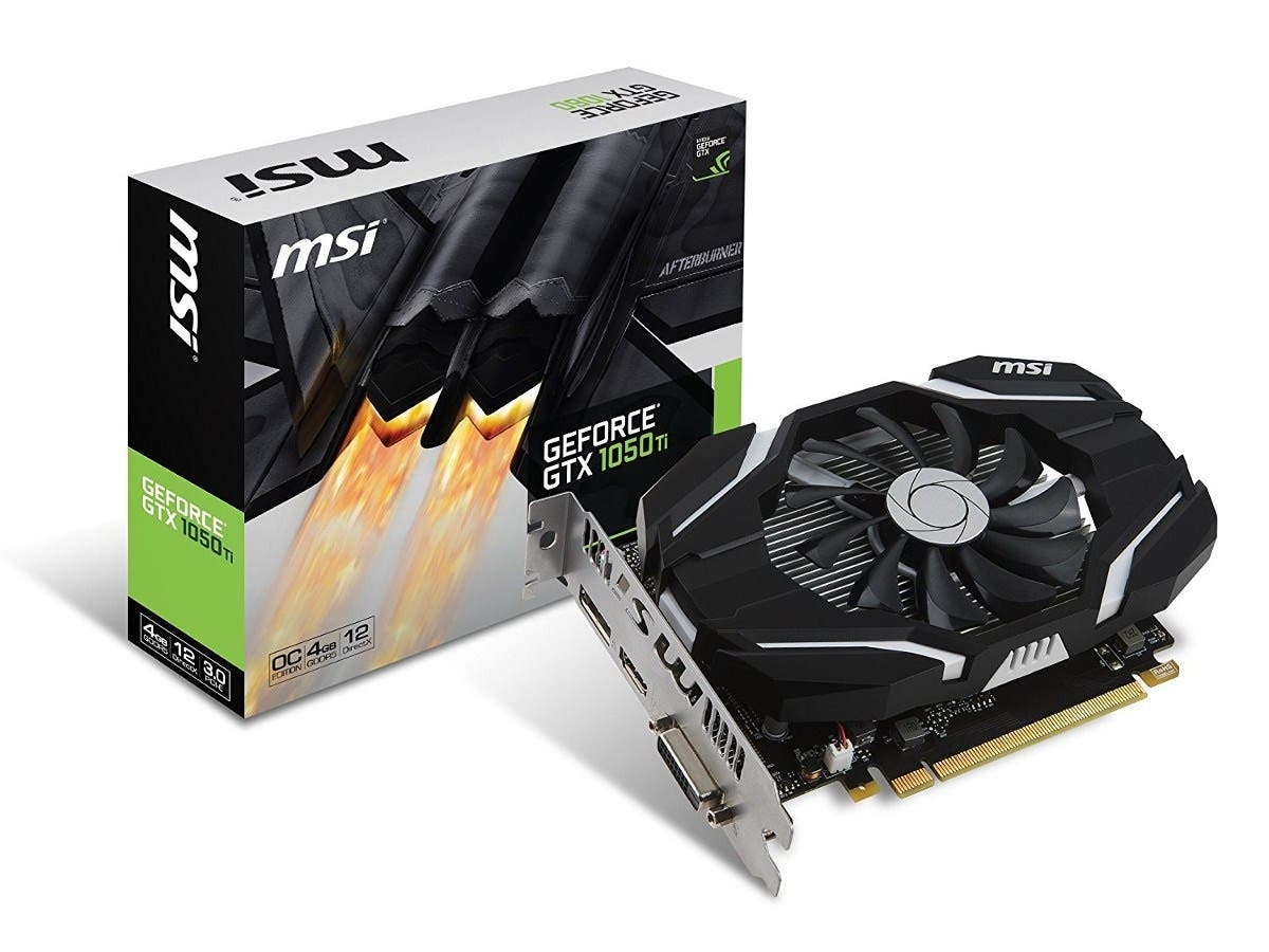 MSI GeForce GTX 1050 Ti DirectX 12 GTX 1050 Ti 4G OC 4GB 128-Bit GDDR5 PCI Express 3.0 x16 HDCP Ready Video Card-Large-Image-1