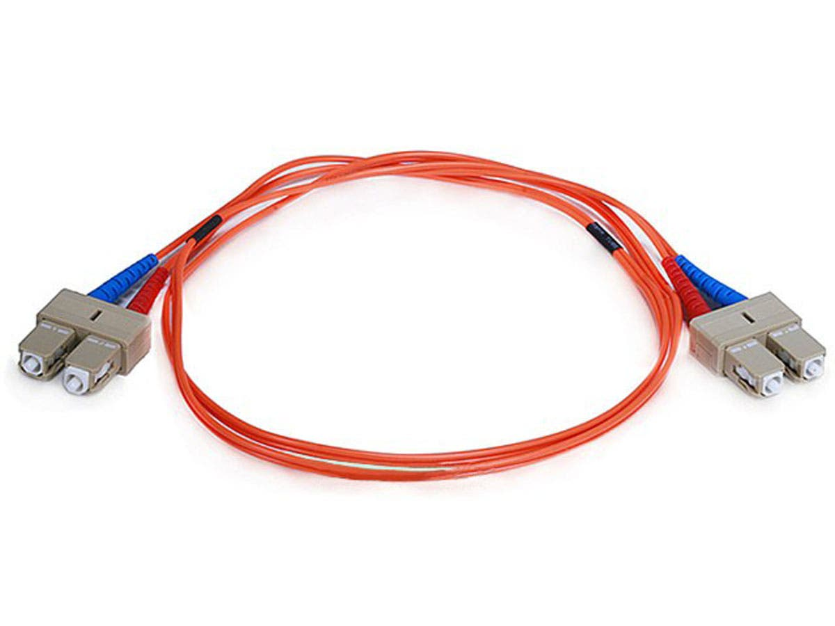 Fiber Optic Cable, SC/SC, OM1, Multi Mode, Duplex - 1 meter (62.5/125 Type) - Orange
