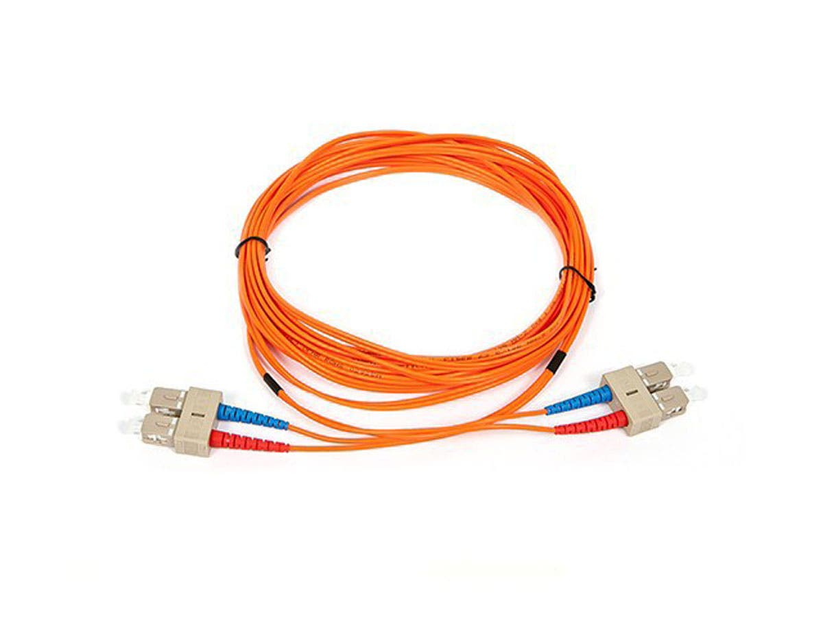 Fiber Optic Cable, SC/SC, OM1, Multi Mode, Duplex - 5 meter (62.5/125 Type) - Orange