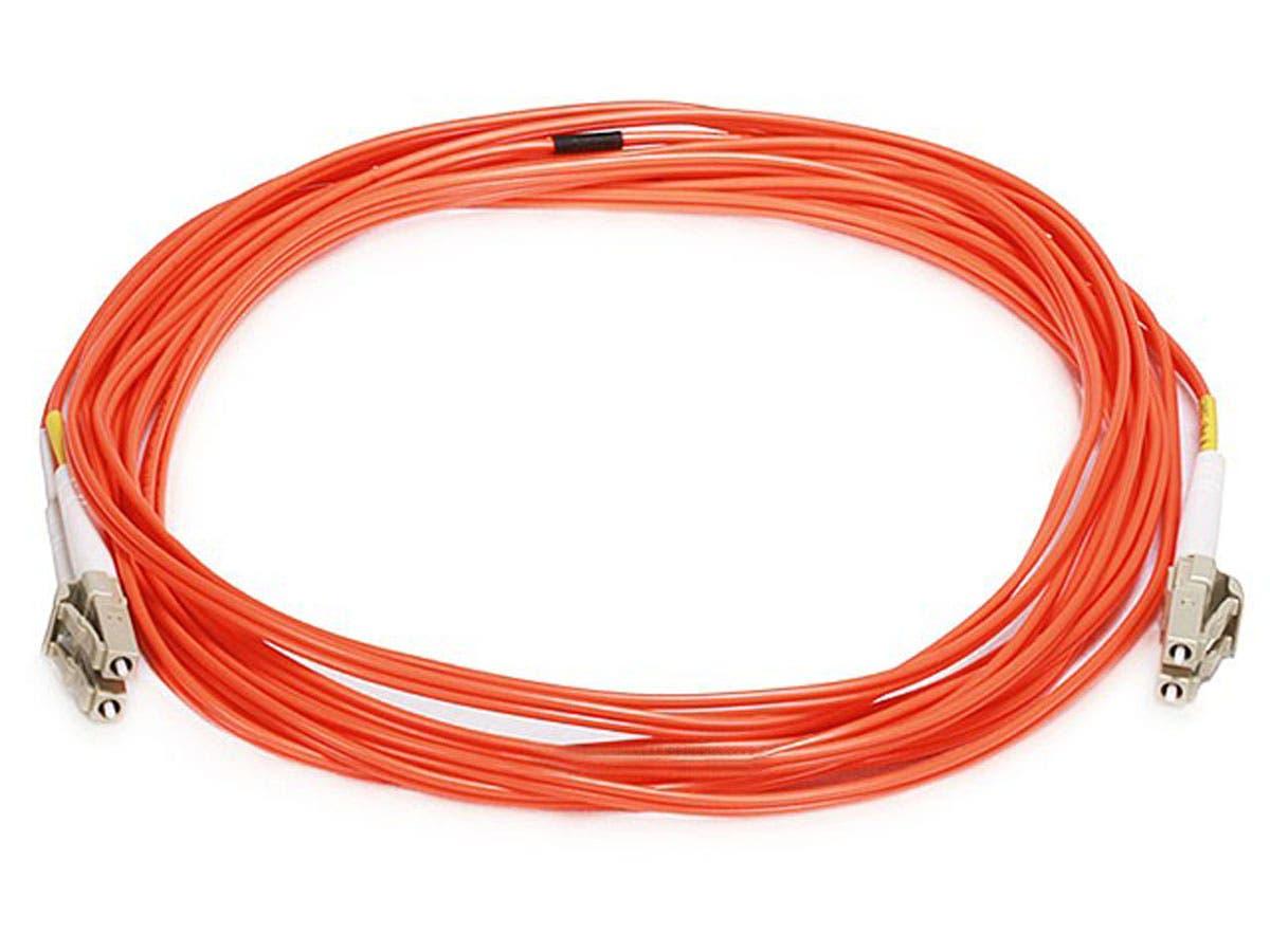 Fiber Optic Cable, LC/LC, OM1, Multi Mode, Duplex -  5 meter (62.5/125 Type) - Orange