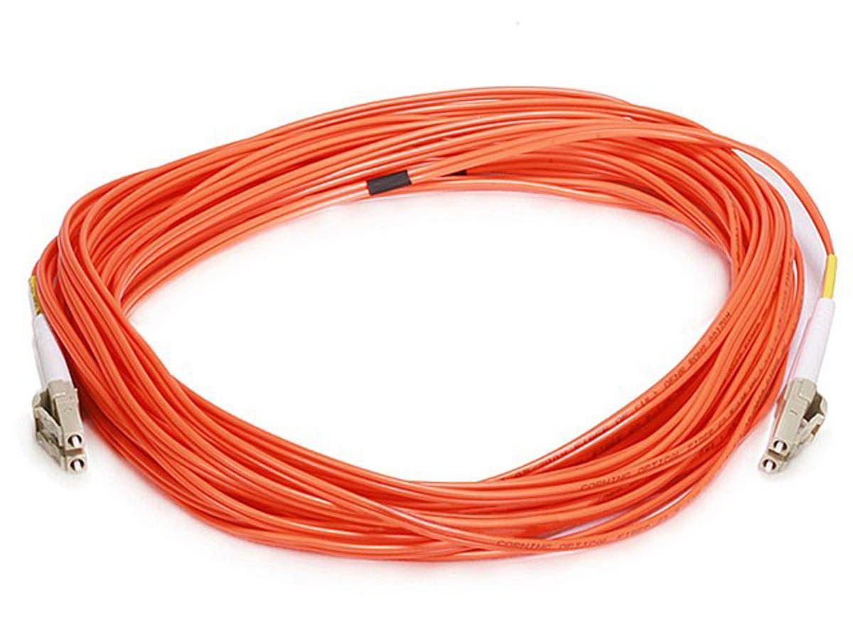 Fiber Optic Cable, LC/LC, OM1, Multi Mode, Duplex - 10 meter (62.5/125 Type) - Orange