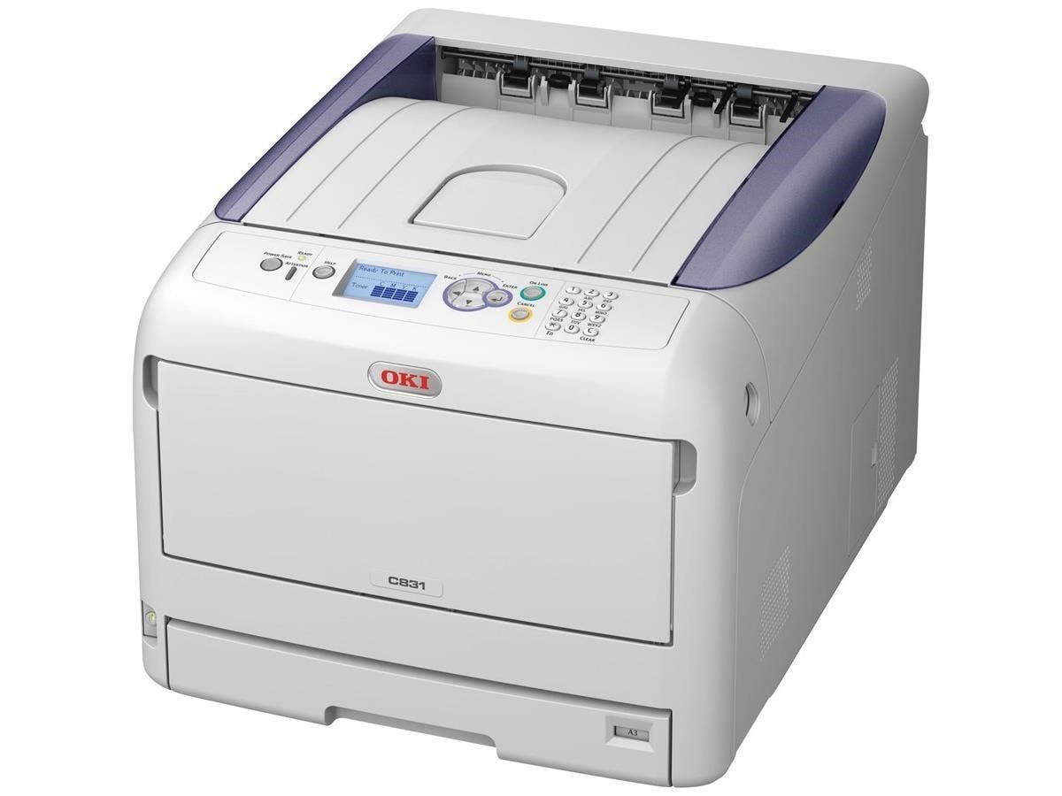 Oki C800 C831DN LED Printer - Color - 1200 x 600 dpi Print - Plain Paper Print - Desktop - 35 ppm Mono / 35 ppm Color Print - 400 sheets Standard Input Capacity - 75000 pages per month - Automatic Dup