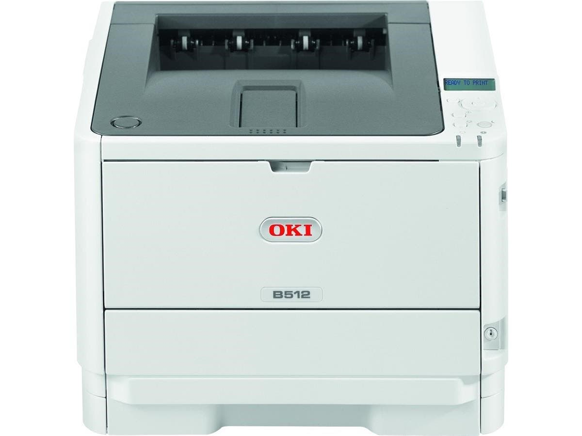 Oki B512dn LED Printer - Monochrome - 1200 x 1200 dpi Print - Plain Paper Print - Desktop - 47 ppm Mono Print - 630 sheets Standard Input Capacity - 100000 pages per month - Automatic Duplex Print - L