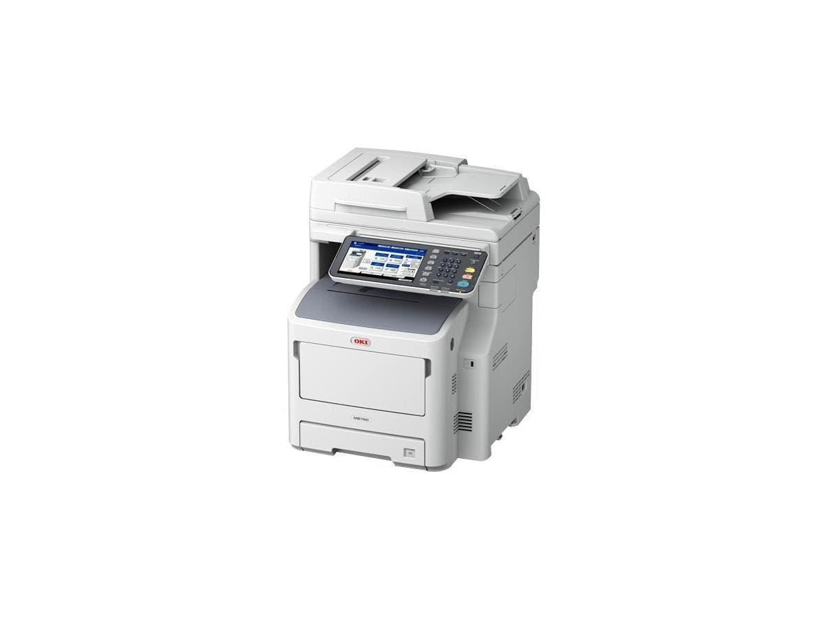 Oki MB700 MB760+ LED Multifunction Printer - Monochrome - Plain Paper Print - Floor Standing - Copier/Fax/Printer/Scanner - 49 ppm Mono Print - 1200 x 1200 dpi Print - 49 cpm Mono Copy - 1 x Input Tra