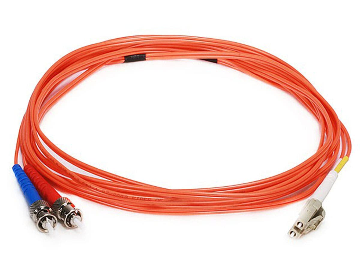 Fiber Optic Cable, LC/ST, OM1, Multi Mode, Duplex - 3 meter (62.5/125 Type) - Orange