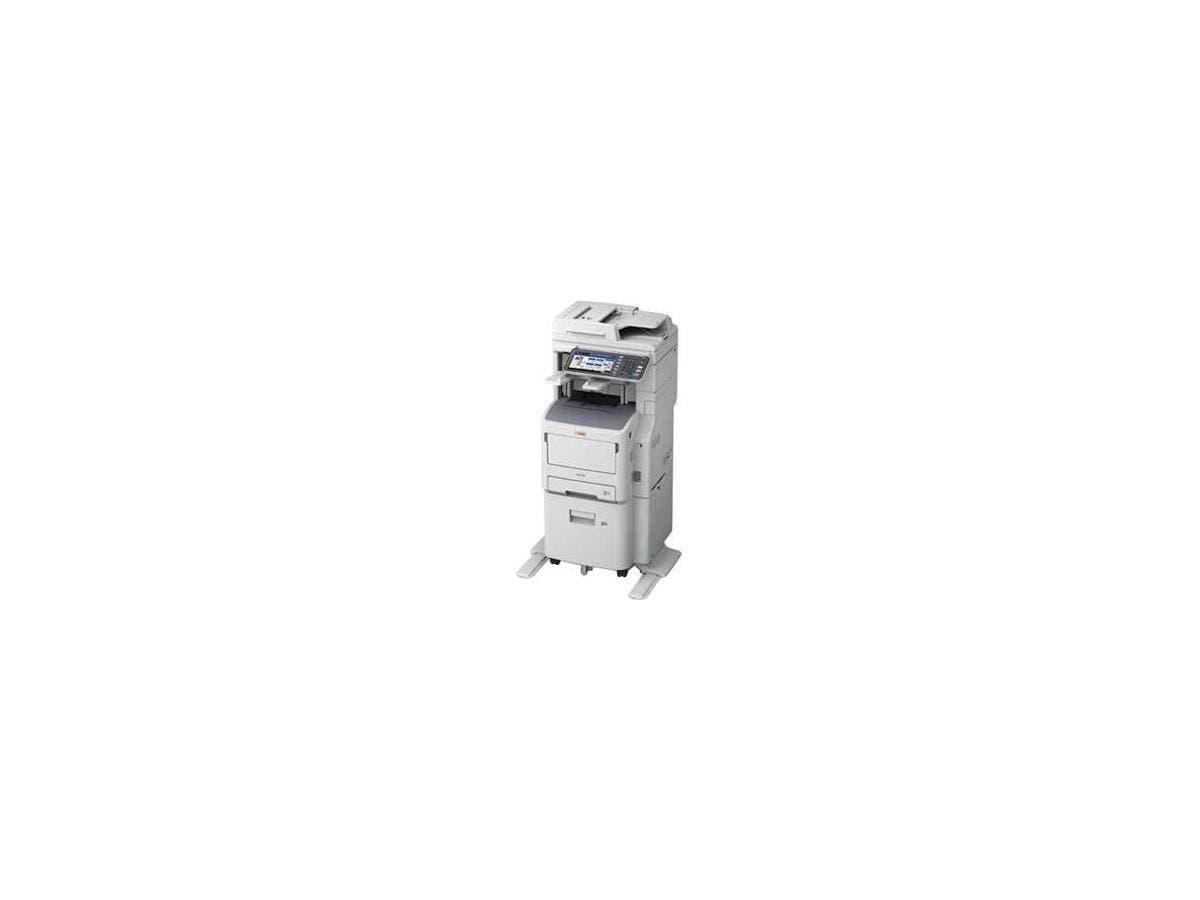 Oki MB770fx+ LED Multifunction Printer - Monochrome - Plain Paper Print - Floor Standing - Copier/Fax/Printer/Scanner - 55 ppm Mono Print - 1200 x 1200 dpi Print - 1 x Input Tray 530 Sheet, 1 x Multip