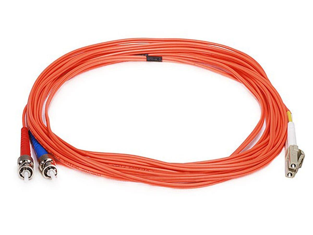 Fiber Optic Cable, LC/ST, OM1, Multi Mode, Duplex - 5 meter (62.5/125 Type) - Orange
