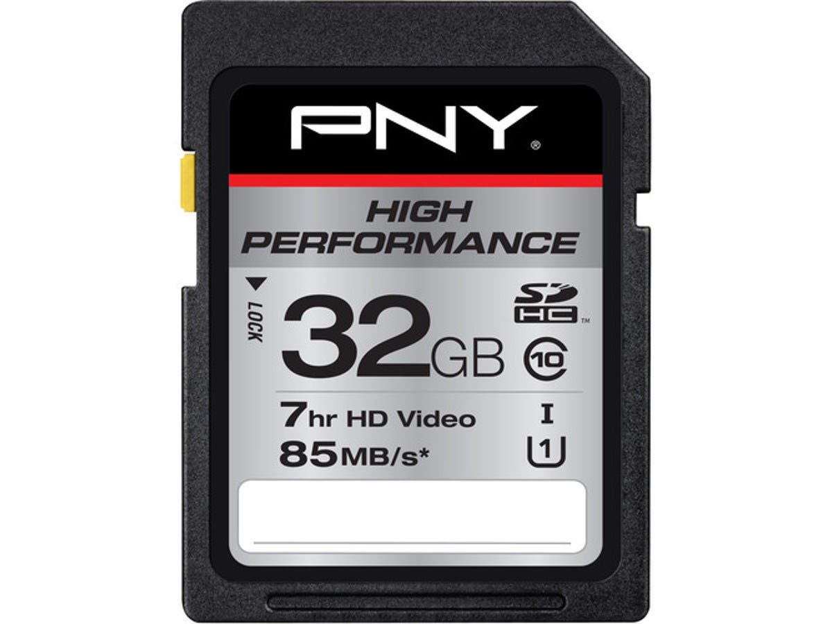 PNY 32 GB SDHC - Class 10/UHS-I (U1) - 85 MB/s Read-Large-Image-1