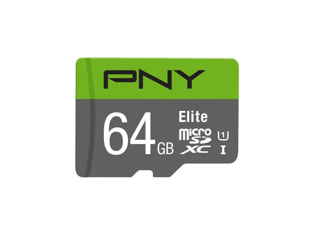 PNY Elite 64 GB microSDXC - Class 10/UHS-I (U1) - 85 MB/s Read-Large-Image-1