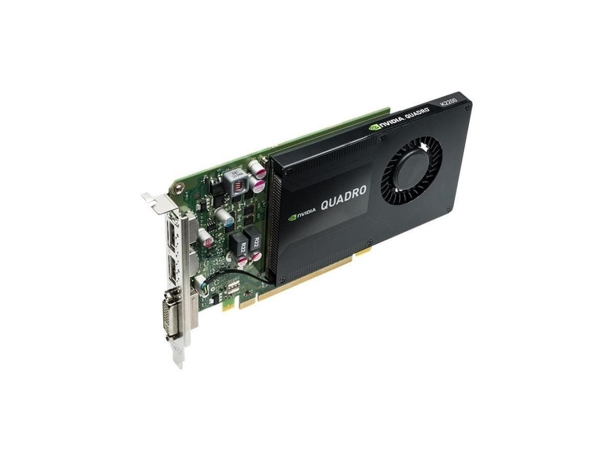 PNY Quadro K2200 Graphic Card - 4 GB GDDR5 - PCI Express 2.0 x16 - Full-height - Single Slot Space Required - 128 bit Bus Width - 3840 x 2160 - Fan Cooler - DirectCompute, OpenCL, DirectX 11.2, OpenGL-Large-Image-1