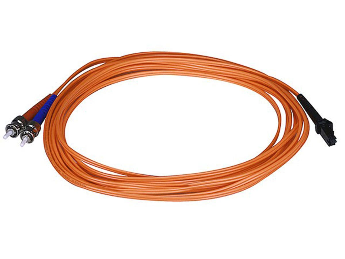 Fiber Optic Cable, MTRJ (Female)/ST, OM1, Multi Mode, Duplex - 5 meter (62.5/125 Type) - Orange