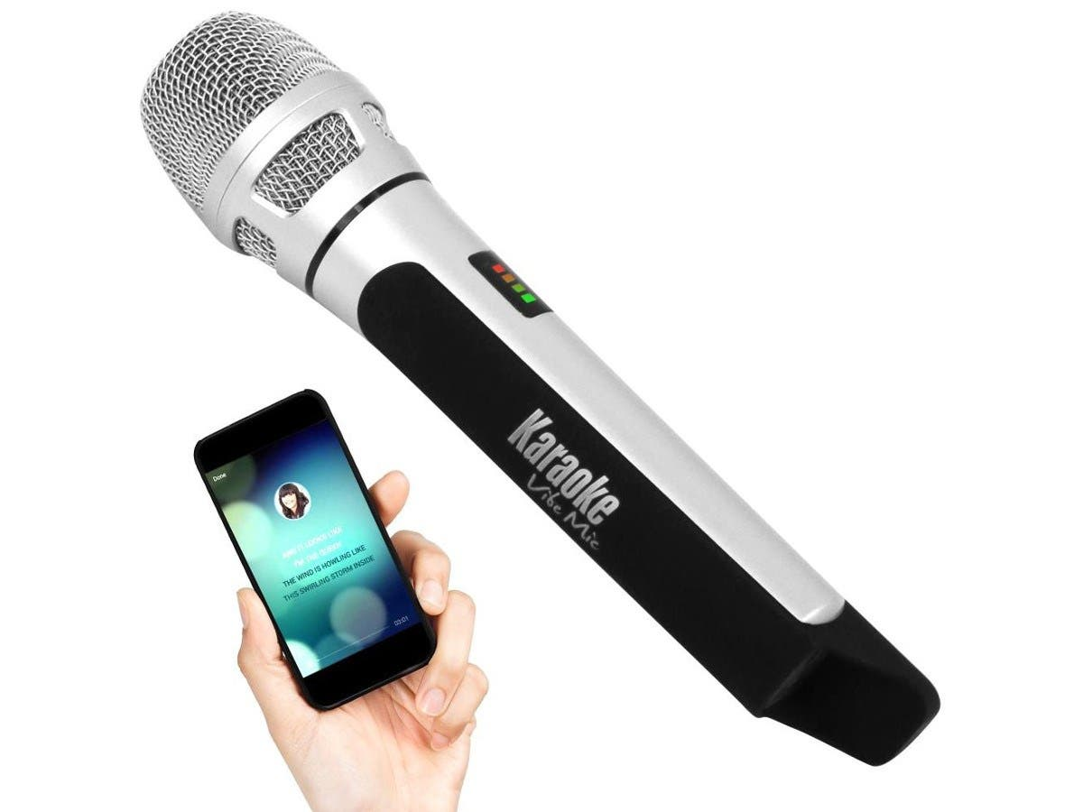 Pyle Wireless Bluetooth Streaming Karaoke Microphone FM Radio Station Broadcasting with Multiple Adjustable Settings. -PKRK9CR
