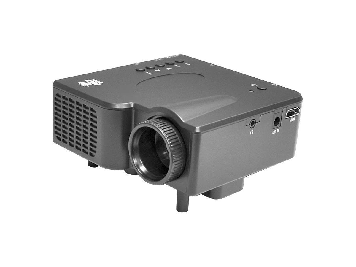 PyleHome PRJG45 LCD Projector - 4:3 - Front - LED - 320 x 240 - HVGA - 300:1 - 40 lm - HDMI - USB - 41 W - 1 Year Warranty-Large-Image-1