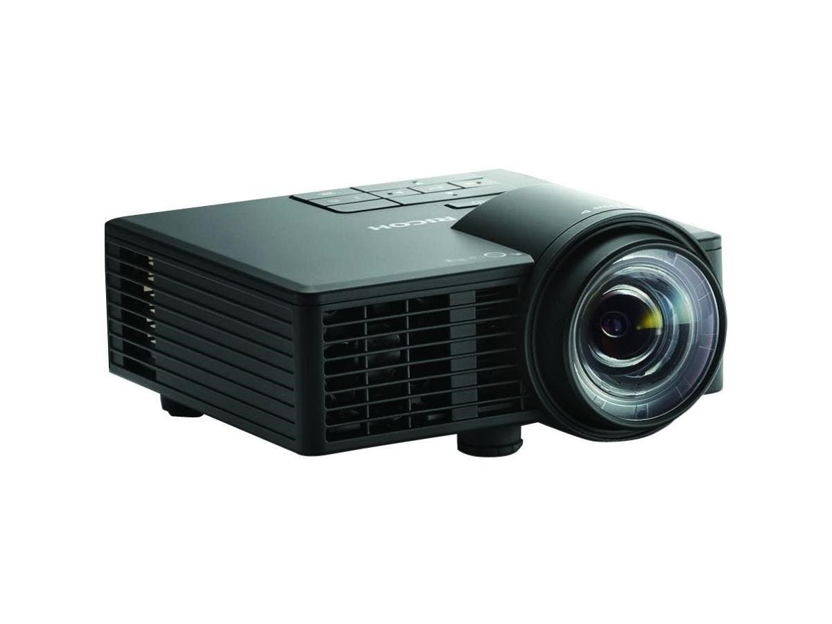 Ricoh PJ WXC1110 3D Ready DLP Projector - 720p - HDTV - 16:10 - Front - LED - 20000 Hour Normal Mode - 30000 Hour Economy Mode - 1280 x 800 - WXGA - 40,000:1 - 600 lm - HDMI - USB-Large-Image-1
