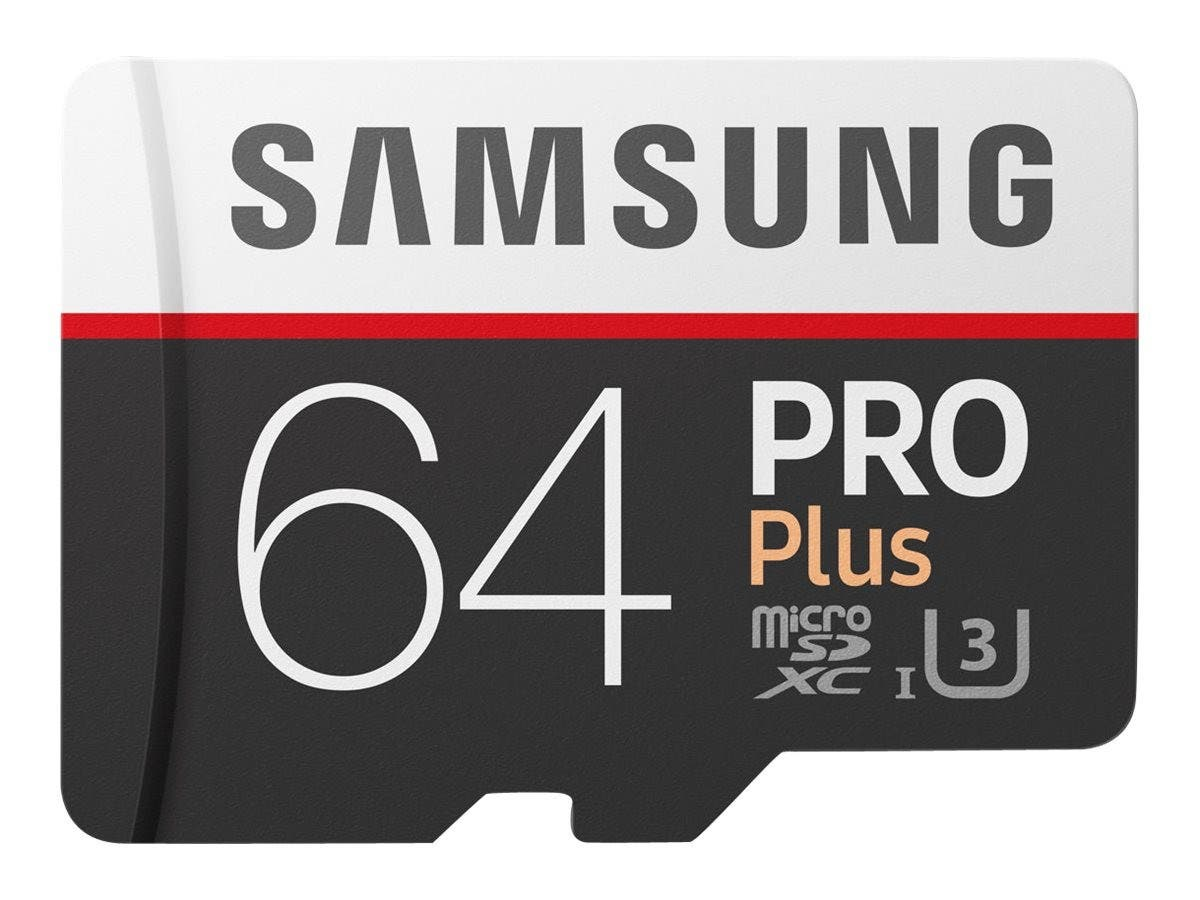 Samsung 64GB Pro Plus MicroSDXC Card with SD Adapter