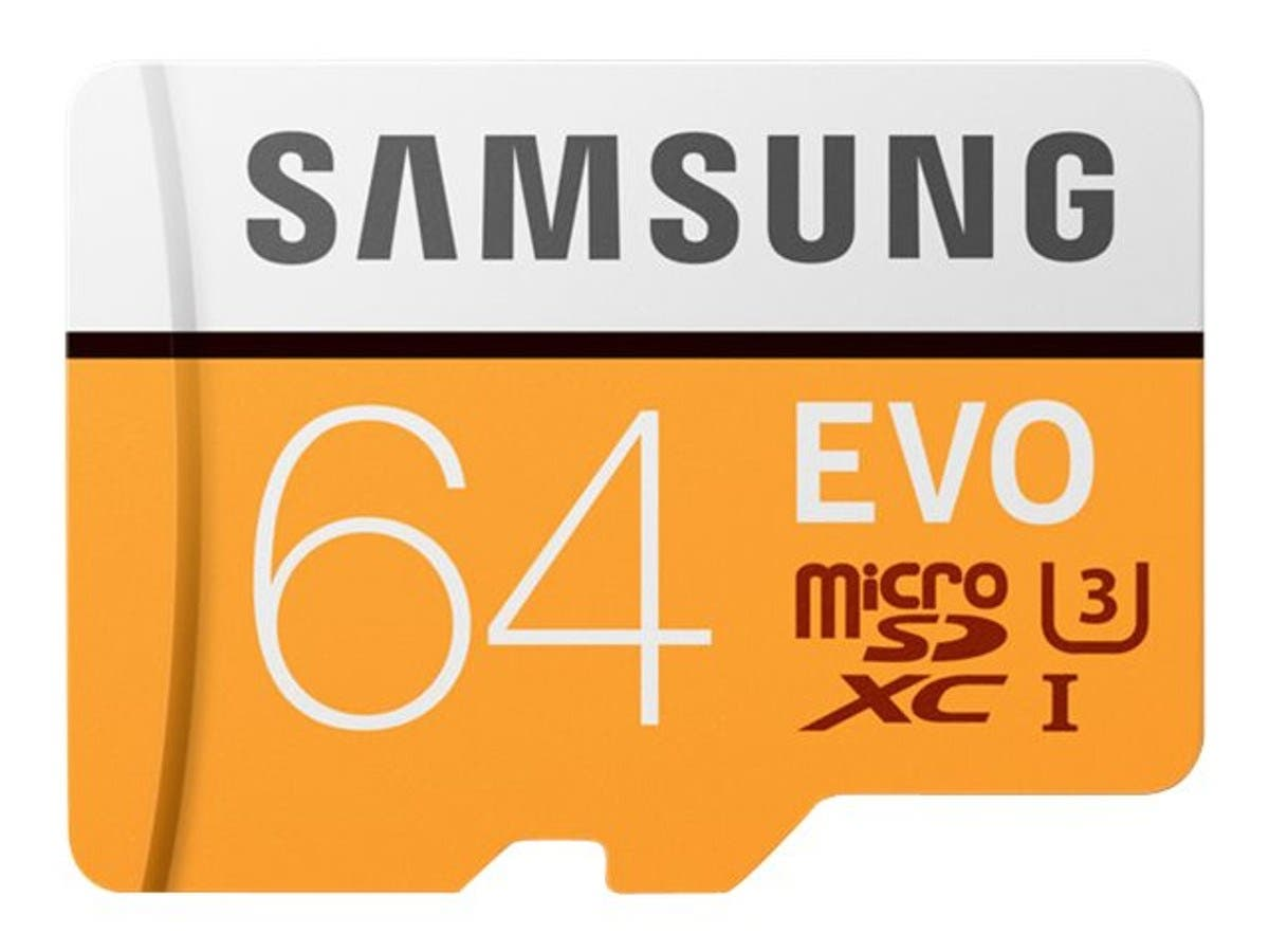 Samsung 64GB EVO UHS-I microSDXC Memory Card - MB-MP64GA/AM-Large-Image-1