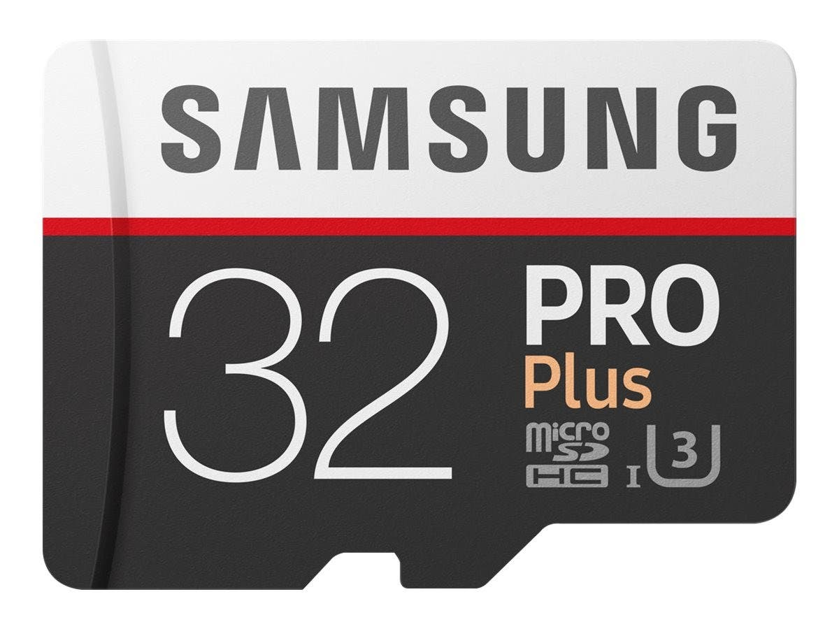 Samsung 32GB PRO Plus Class 10 Micro SDHC with Adapter (MB-MD32GA/AM)
