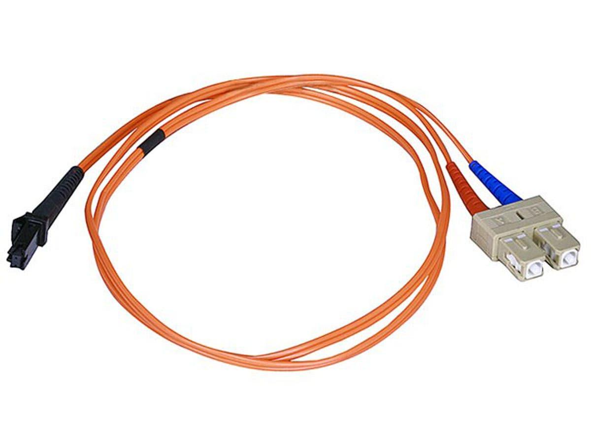 Monoprice Fiber Optic Cable, MTRJ (Female)/SC, OM1, Multi Mode, Duplex - 3 meter (62.5/125 Type) - Orange, Corning-Large-Image-1